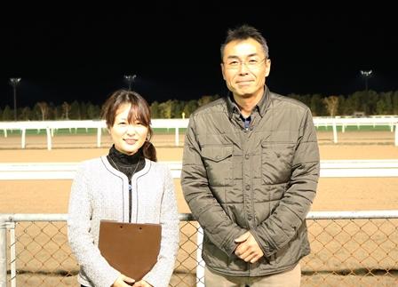 店長三浦と小木曽アナ-1